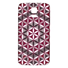 Flower Of Life Pattern Red Grey 01 Samsung Galaxy S5 Back Case (white)