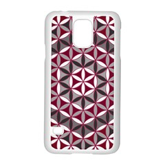 Flower Of Life Pattern Red Grey 01 Samsung Galaxy S5 Case (white)