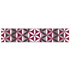 Flower Of Life Pattern Red Grey 01 Small Flano Scarf