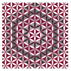 Flower Of Life Pattern Red Grey 01 Large Satin Scarf (square)