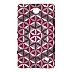 Flower Of Life Pattern Red Grey 01 Samsung Galaxy Tab 4 (7 ) Hardshell Case