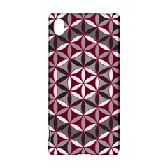 Flower Of Life Pattern Red Grey 01 Sony Xperia Z3+
