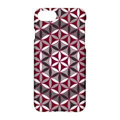 Flower Of Life Pattern Red Grey 01 Apple Iphone 7 Hardshell Case