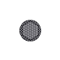 Flower Of Life Pattern Black White 1 1  Mini Buttons