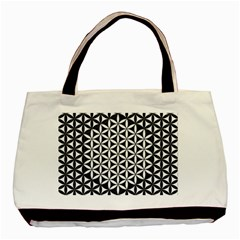 Flower Of Life Pattern Black White 1 Basic Tote Bag (two Sides)