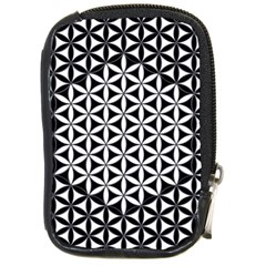 Flower Of Life Pattern Black White 1 Compact Camera Cases