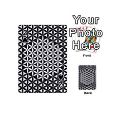 Flower Of Life Pattern Black White 1 Playing Cards 54 (mini)