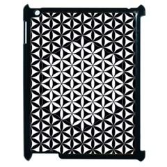 Flower Of Life Pattern Black White 1 Apple Ipad 2 Case (black)