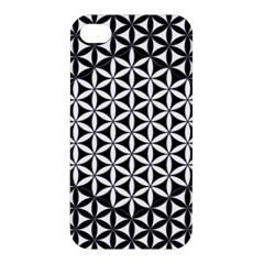 Flower Of Life Pattern Black White 1 Apple Iphone 4/4s Hardshell Case