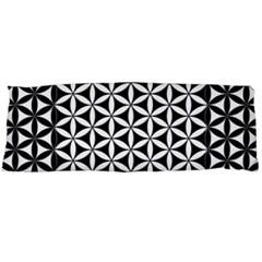 Flower Of Life Pattern Black White 1 Body Pillow Case Dakimakura (two Sides)