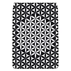 Flower Of Life Pattern Black White 1 Flap Covers (l)