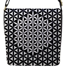 Flower Of Life Pattern Black White 1 Flap Messenger Bag (s)