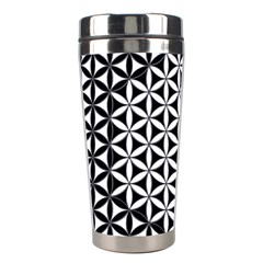 Flower Of Life Pattern Black White 1 Stainless Steel Travel Tumblers