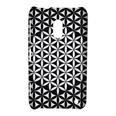 Flower Of Life Pattern Black White 1 Nokia Lumia 620