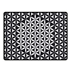 Flower Of Life Pattern Black White 1 Double Sided Fleece Blanket (small)