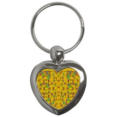 Rainbow Stars In The Golden Skyscape Key Chains (heart)
