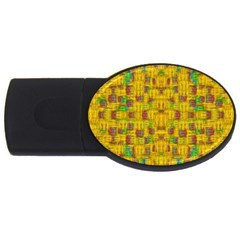 Rainbow Stars In The Golden Skyscape Usb Flash Drive Oval (2 Gb)