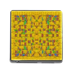 Rainbow Stars In The Golden Skyscape Memory Card Reader (square)