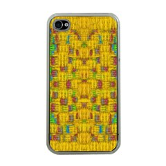 Rainbow Stars In The Golden Skyscape Apple Iphone 4 Case (clear)