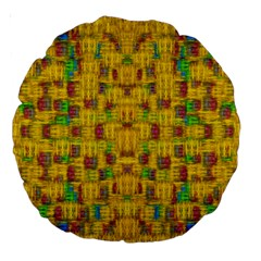 Rainbow Stars In The Golden Skyscape Large 18  Premium Round Cushions
