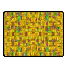 Rainbow Stars In The Golden Skyscape Double Sided Fleece Blanket (small)