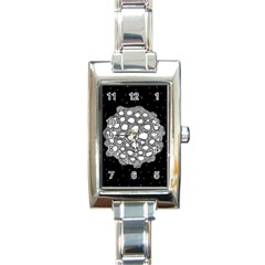 Strange Planet Rectangle Italian Charm Watch
