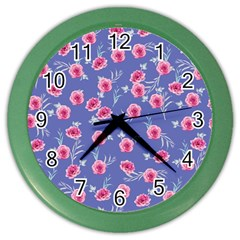 Roses And Roses Color Wall Clocks