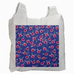 Roses And Roses Recycle Bag (two Side)