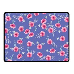 Roses And Roses Fleece Blanket (small)
