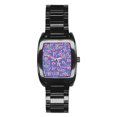 Roses And Roses Stainless Steel Barrel Watch