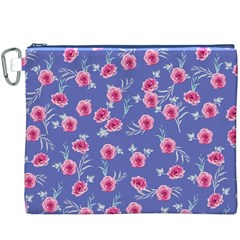 Roses And Roses Canvas Cosmetic Bag (xxxl)