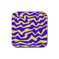 Polynoise Vibrant Royal Rubber Coaster (square)