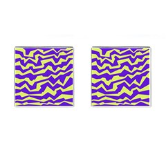 Polynoise Vibrant Royal Cufflinks (square)