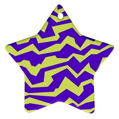 Polynoise Vibrant Royal Star Ornament (two Sides)