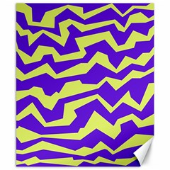 Polynoise Vibrant Royal Canvas 8  X 10