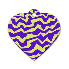 Polynoise Vibrant Royal Dog Tag Heart (two Sides)