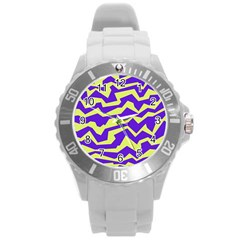 Polynoise Vibrant Royal Round Plastic Sport Watch (l)