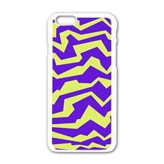 Polynoise Vibrant Royal Apple Iphone 6/6s White Enamel Case