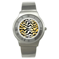 Polynoise Tiger Stainless Steel Watch