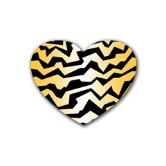 Polynoise Tiger Rubber Coaster (heart)