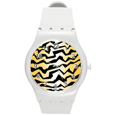 Polynoise Tiger Round Plastic Sport Watch (m)