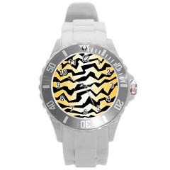 Polynoise Tiger Round Plastic Sport Watch (l)