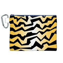 Polynoise Tiger Canvas Cosmetic Bag (xl)