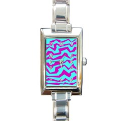 Polynoise Shock New Wave Rectangle Italian Charm Watch