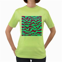 Polynoise Shock New Wave Women s Green T Shirt