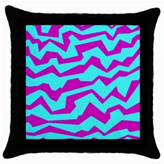Polynoise Shock New Wave Throw Pillow Case (black)