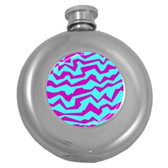 Polynoise Shock New Wave Round Hip Flask (5 Oz)