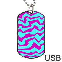 Polynoise Shock New Wave Dog Tag Usb Flash (two Sides)