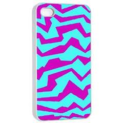 Polynoise Shock New Wave Apple Iphone 4/4s Seamless Case (white)