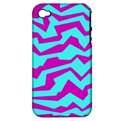 Polynoise Shock New Wave Apple Iphone 4/4s Hardshell Case (pc+silicone)
